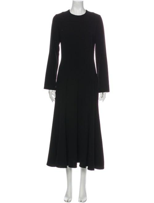 Georgia Alice Crew Neck Long Dress Black
