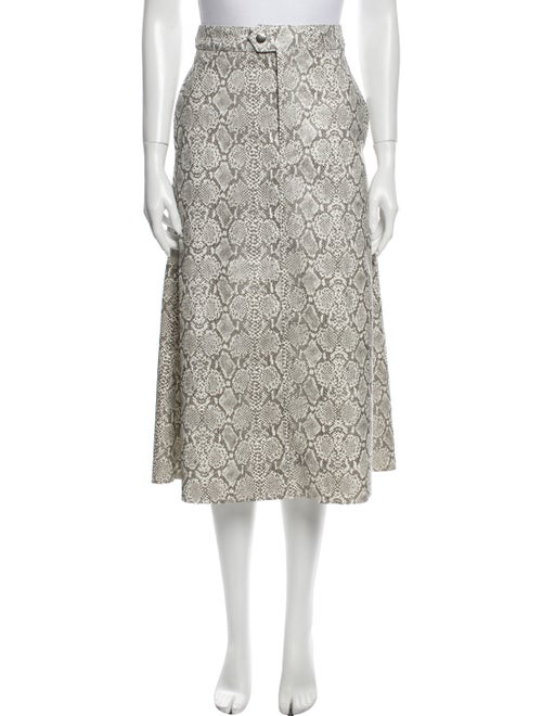 Georgia Alice Animal Print Midi Length Skirt w/ Ta