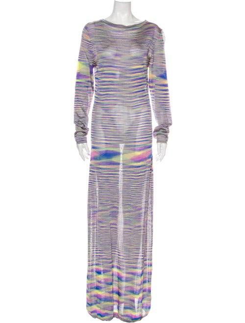 Georgia Alice Striped Long Dress Purple