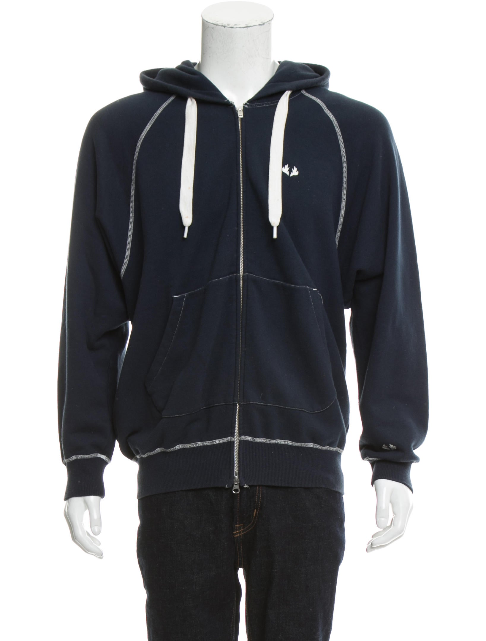 ganryu x comme des gar ons embroidered zip hoodie. Black Bedroom Furniture Sets. Home Design Ideas