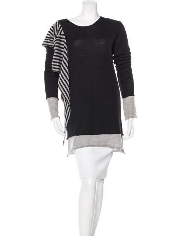 Gareth Pugh Striped Wool Sweater None