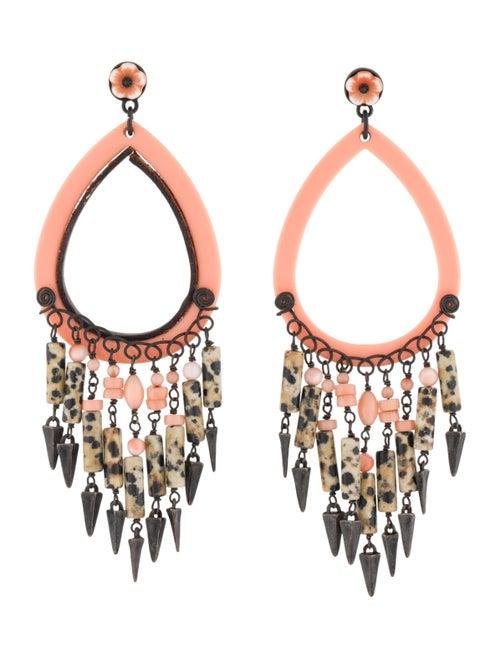 Gas Bijoux Chandelier Earrings silver