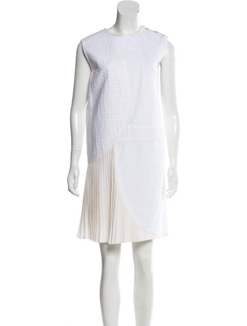 Gauchère Sleeveless Knee-Length Dress White