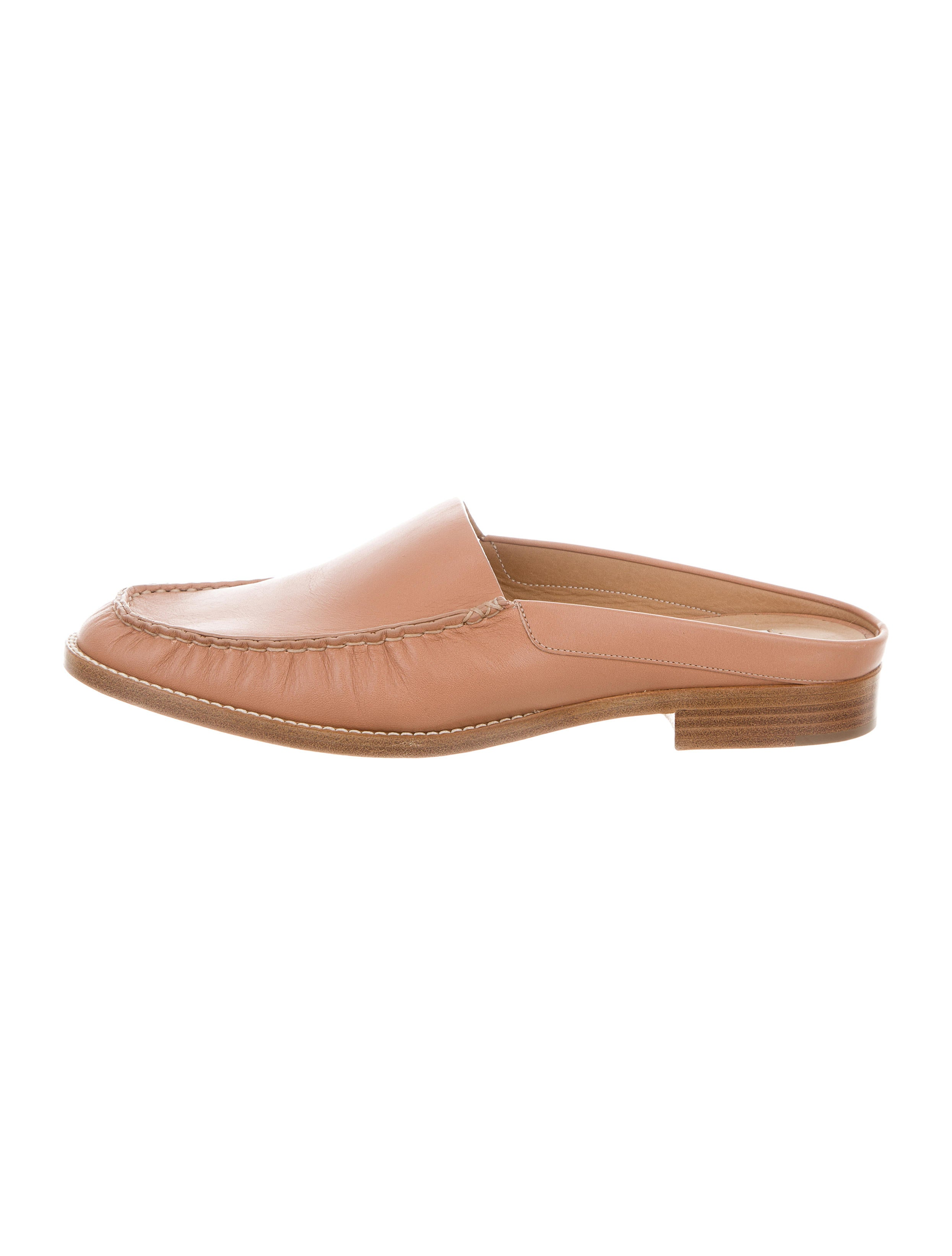 Gabriela Hearst Leather Round-Toe Mules 100% guaranteed online where can i order EOaJhks1