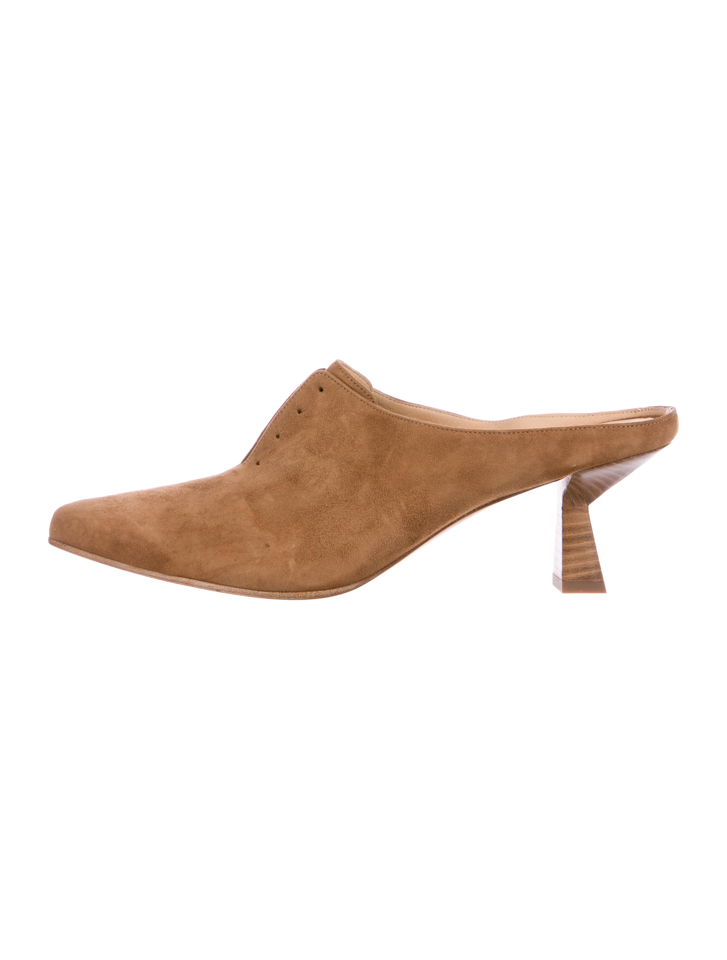 free shipping authentic pay with paypal Gabriela Hearst Suede Antoinette Mules buy online new nzcK5V