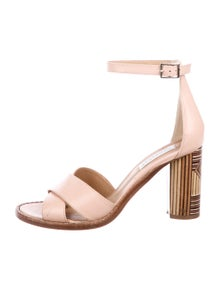 c663e52b9be0 Gabriela Hearst. Leather Ankle-Strap Sandals