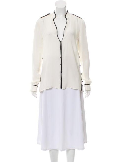 Gabriela Hearst Silk Long Sleeve Blouse
