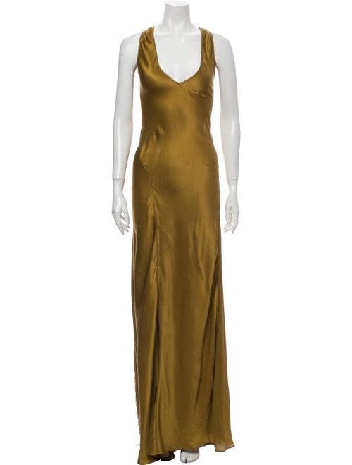 Gabriela Hearst Silk Long Dress Gold