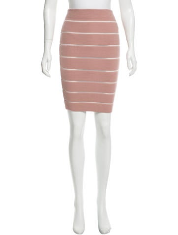 Genny Glitter-Accented Rib Knit Skirt w/ Tags None