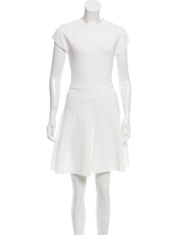 Genny Rib Knit A-Line Dress None