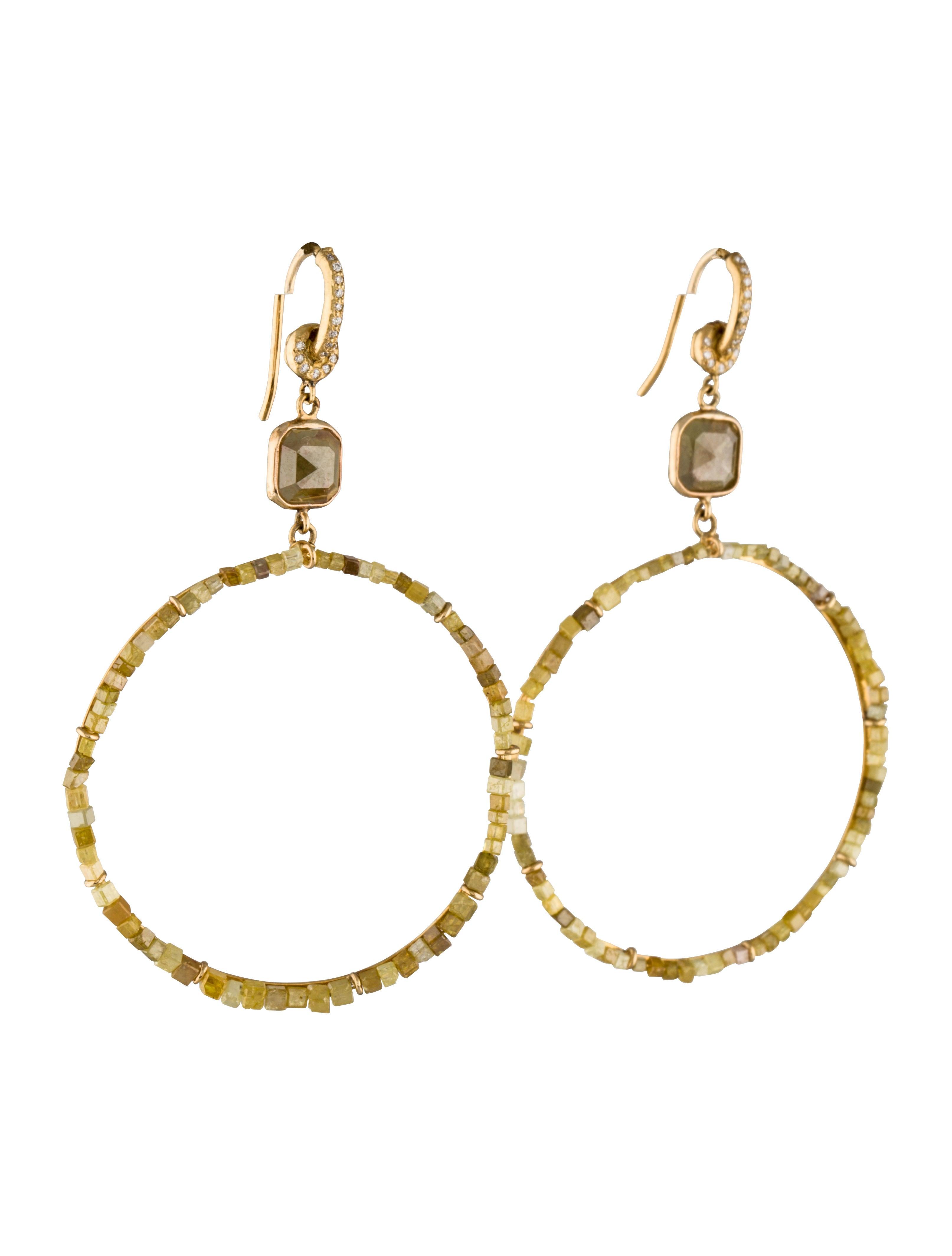 runsdorf drop hoop earrings earrings