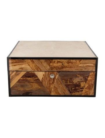 Ginger Brown Shagreen Watch Box