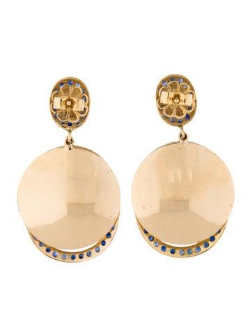 2.20ctw Sapphire Oval Earrings