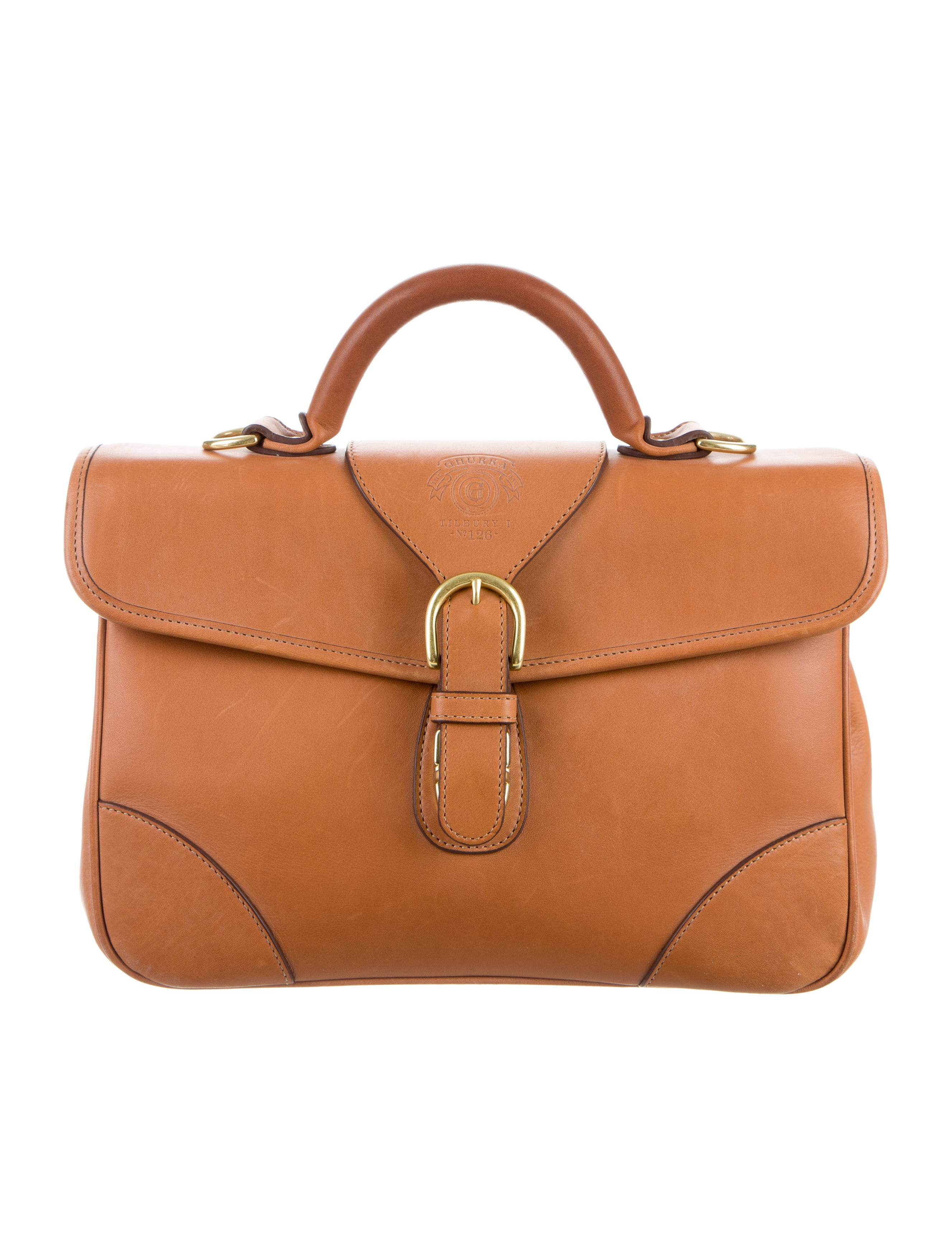 Ghurka Leather Satchel Handbags GHK20069 The RealReal : GHK200691enlarged from www.therealreal.com size 2653 x 3501 jpeg 560kB