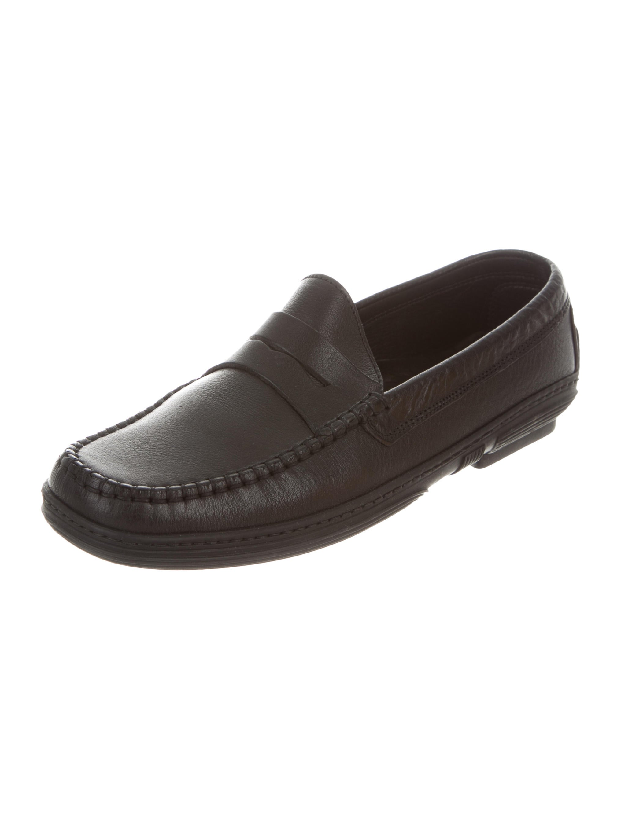 cheap browse Ghurka Leather Round-Toe Loafers cheap sale latest sale purchase new styles online lD71fCKlt