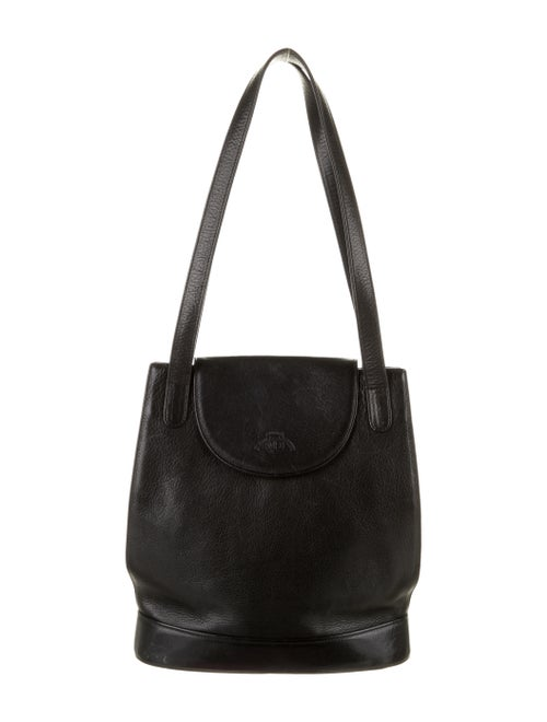 Ghurka Leather Shoulder Bag Black