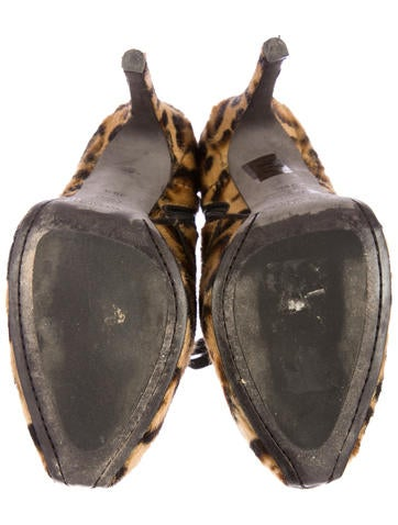 Leopard Ponyhair Boots