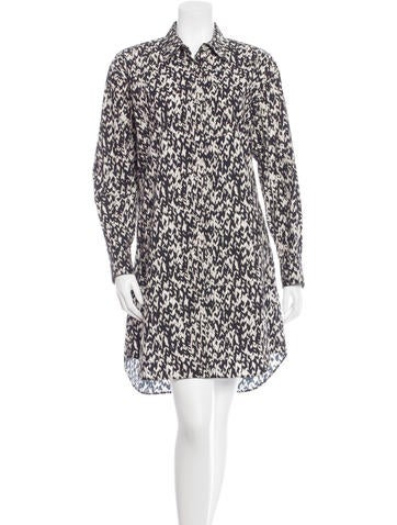 Giambattista Valli Printed Button-Up Dress w/ Tags