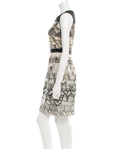 Silk Snakeskin Print Dress