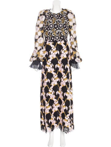 Giambattista Valli Embroidered Maxi Dress w/ Tags