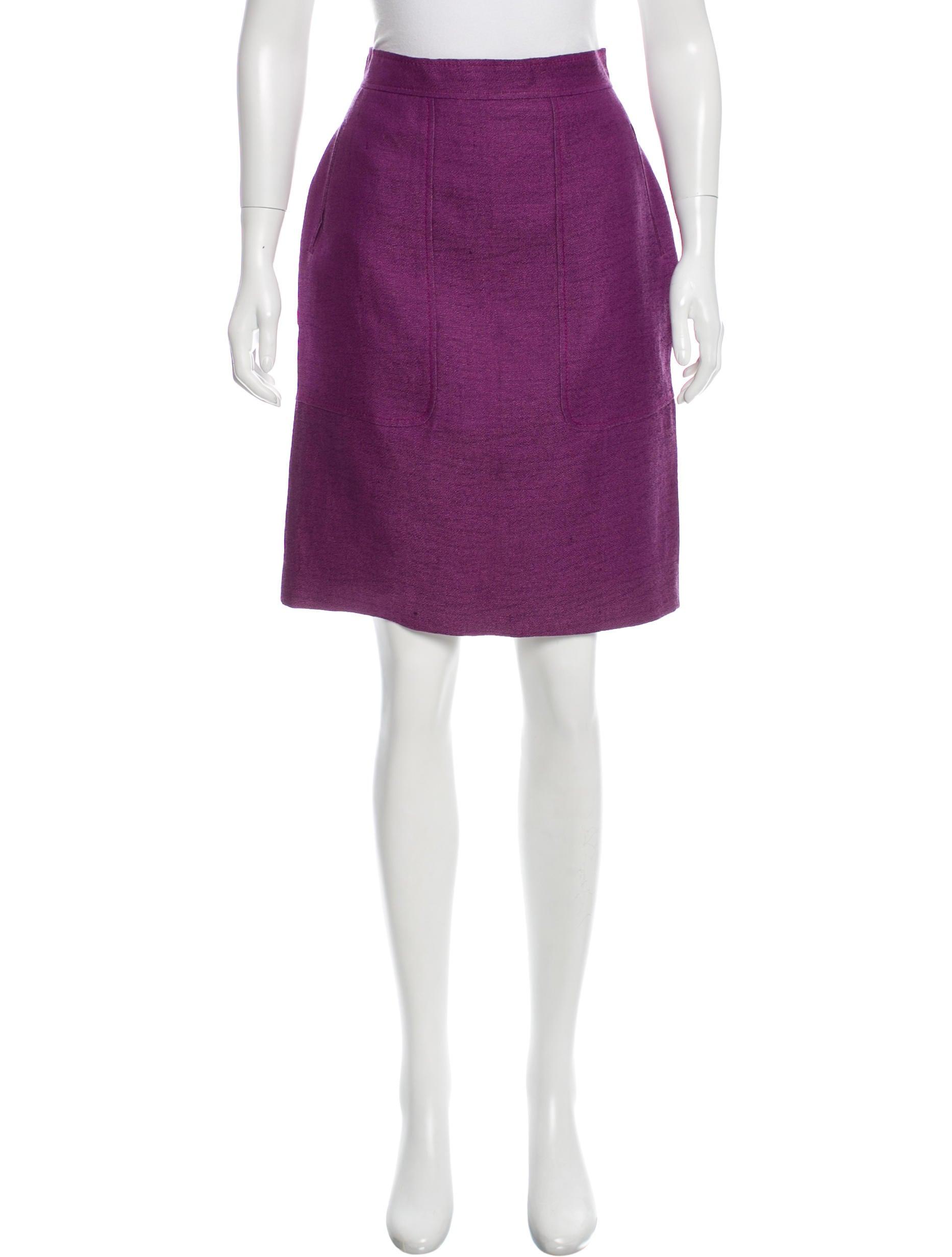 giambattista valli linen silk blend knee length skirt