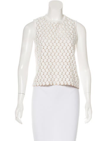 Giambattista Valli Embroidered Sleeveless Top None