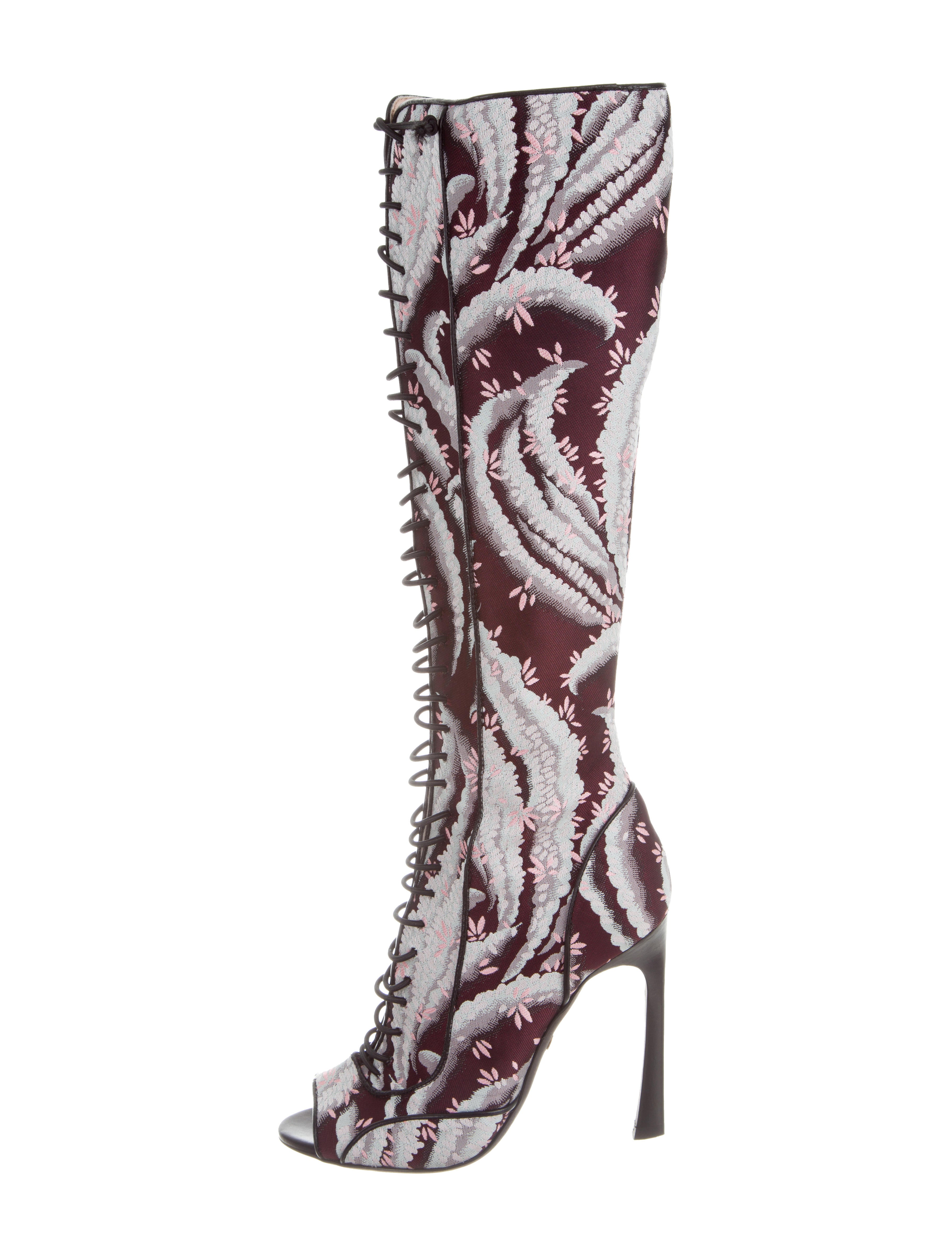giambattista valli lace up knee high boots shoes