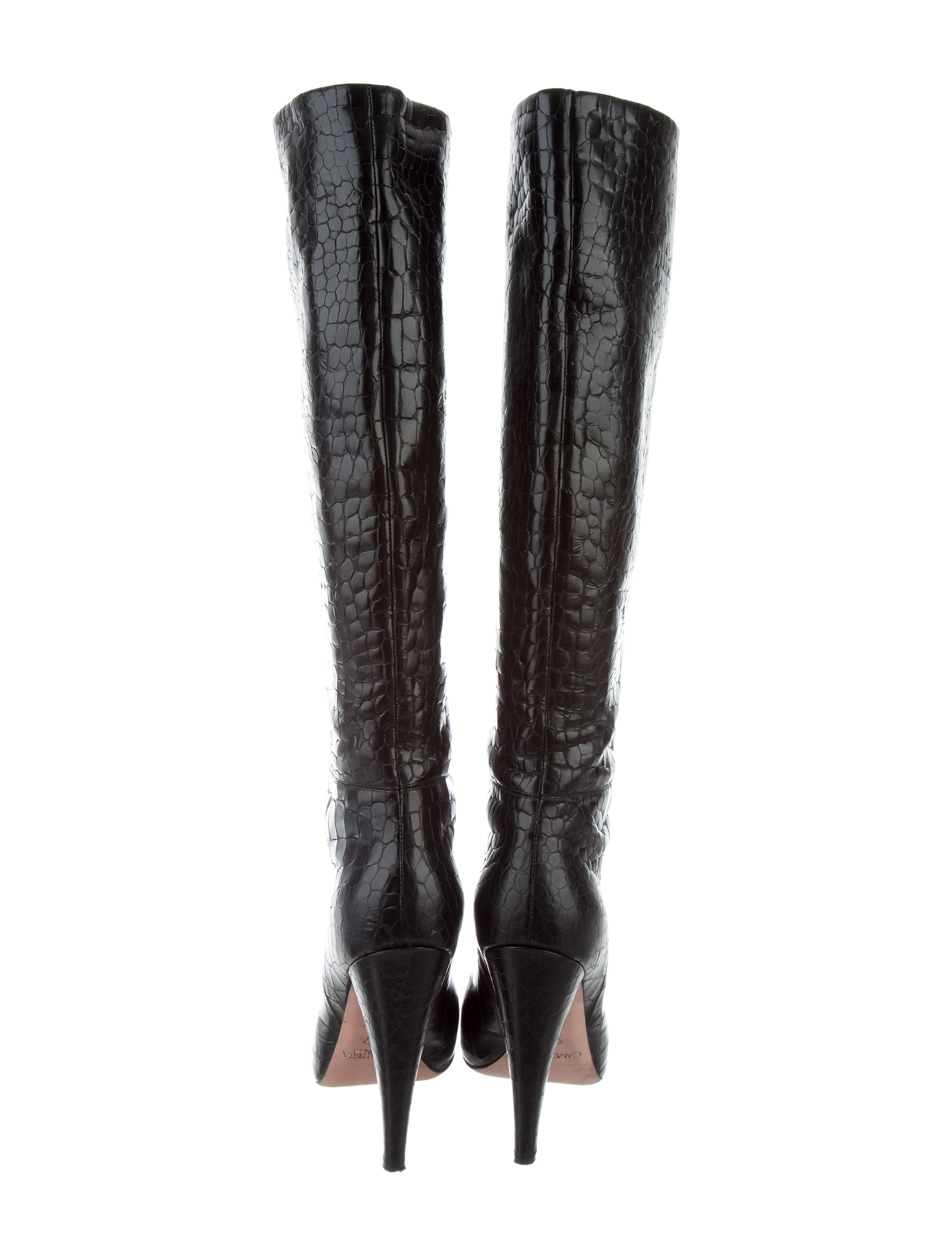 discounts for sale Giambattista Valli Embossed Leather Boots sale shop discount genuine outlet pay with visa 1qA46pqUG