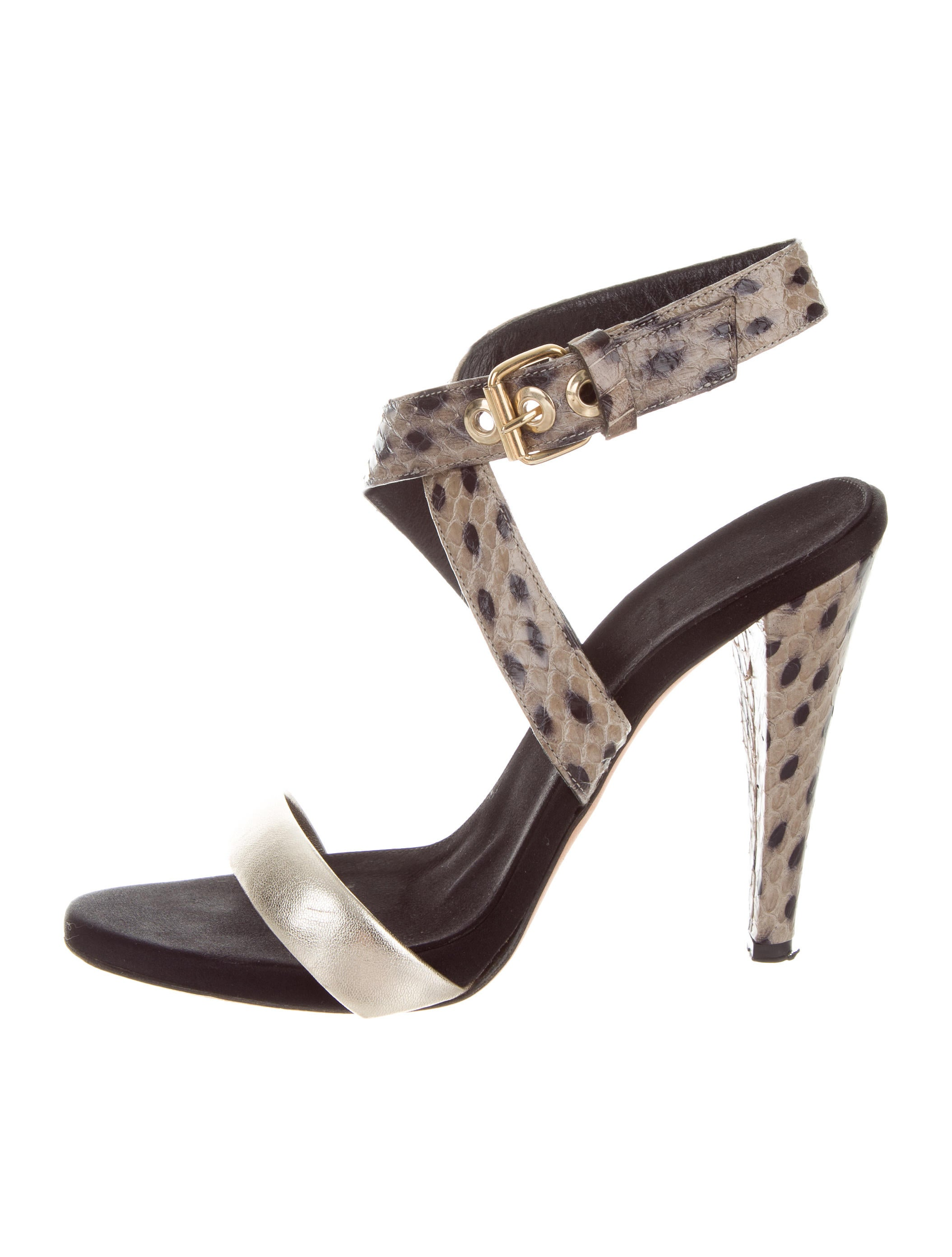 Giambattista Valli Embossed Ankle Strap Sandals official site sale online KgtJ8RbH