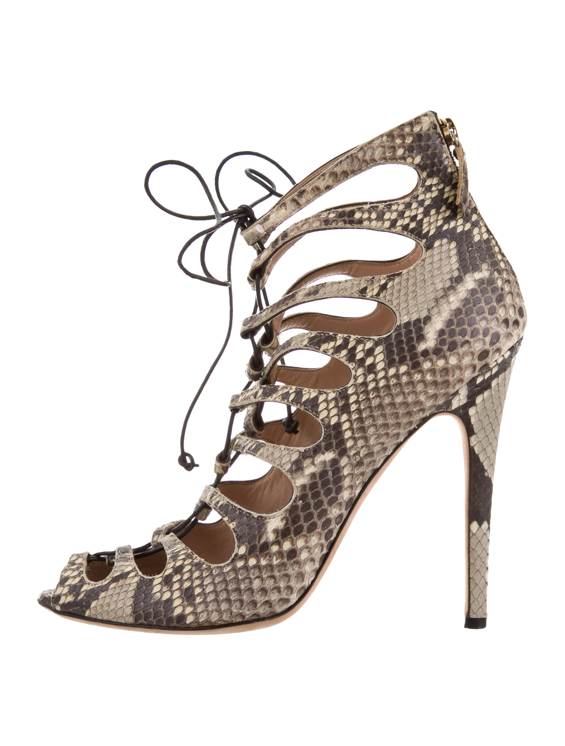 Giambattista Valli Snakeskin Caged Sandals cheap 2015 new newest for sale clearance clearance uQQCw9tqKA
