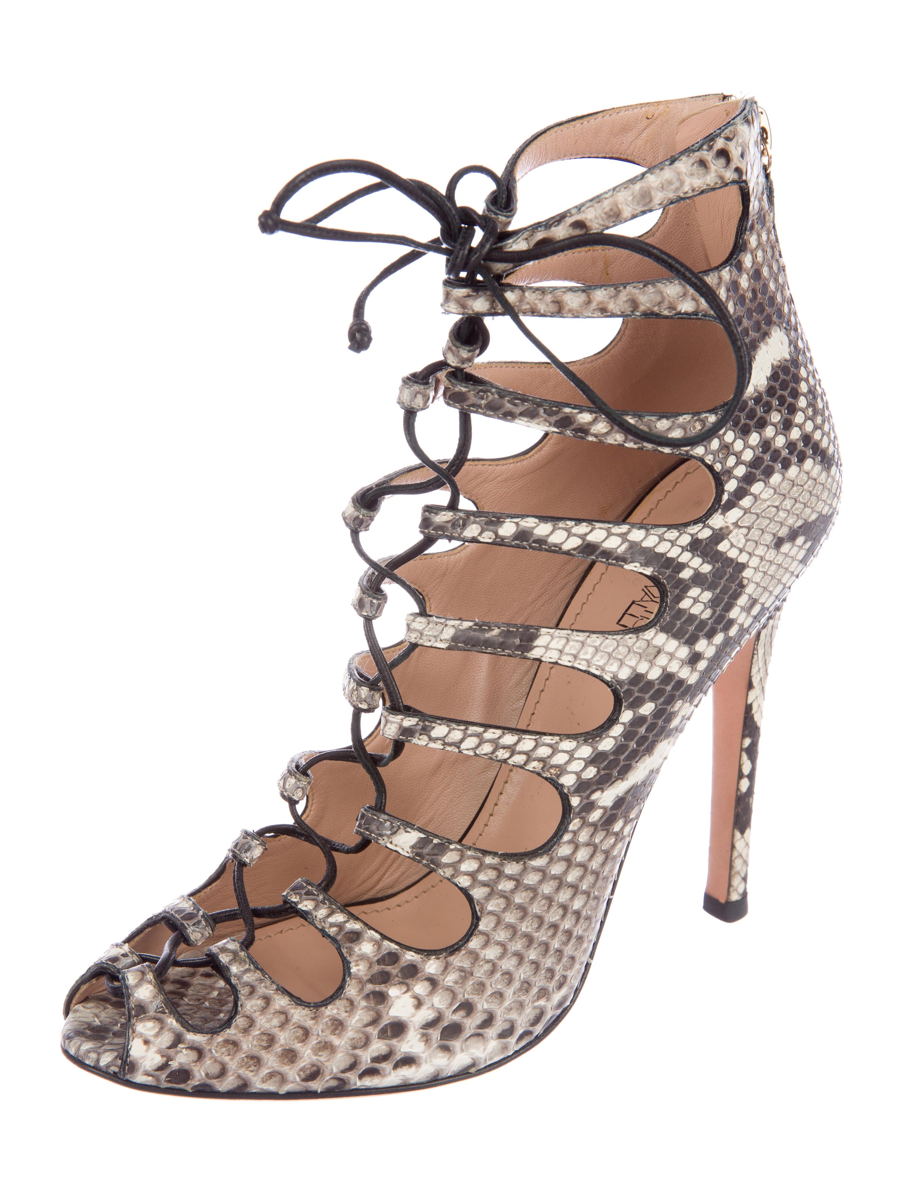 Giambattista Valli Snakeskin Caged Sandals newest cheap price 3Vb9W