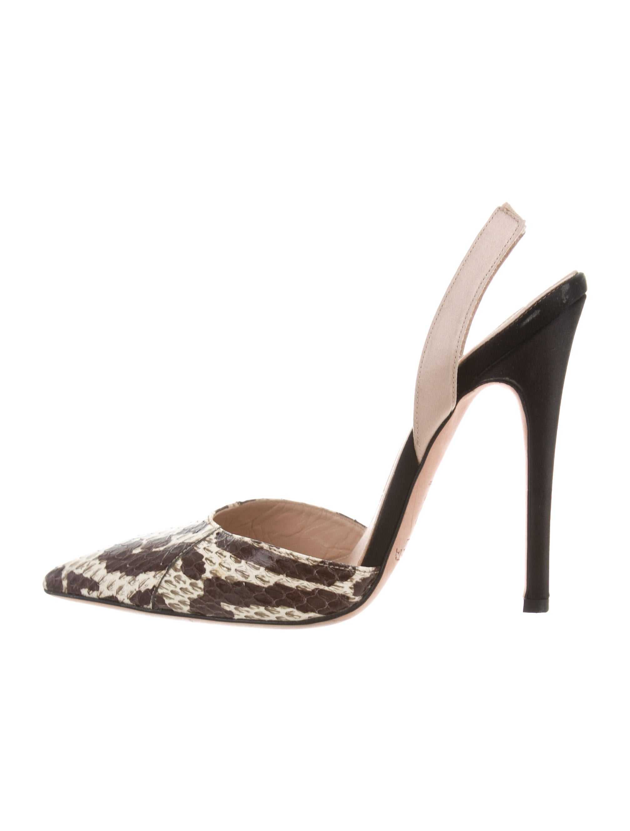 sale best seller Giambattista Valli Python Slingback Pumps buy for sale buy cheap exclusive low cost cheap wiki YoeK4z