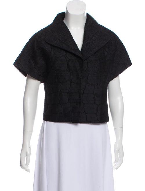 Giambattista Valli Short Sleeve Jacket Black