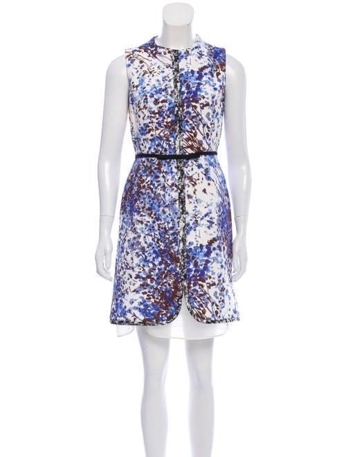 Giambattista Valli Printed Sleeveless Dress White