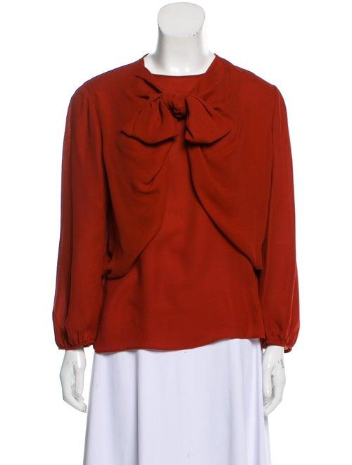 Giambattista Valli Long Sleeve Silk Blouse