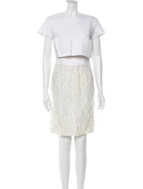 Giambattista Valli Linen Dress Set White