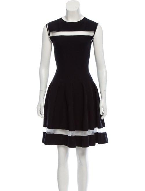 Giambattista Valli Flared Knit Dress Black