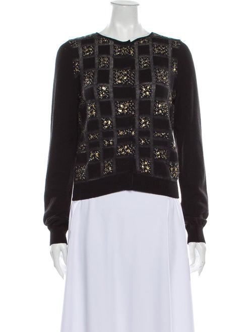 Giambattista Valli Wool Lace Pattern Sweater Wool