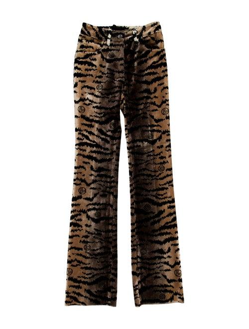 Giambattista Valli Animal Print Wide Leg Pants