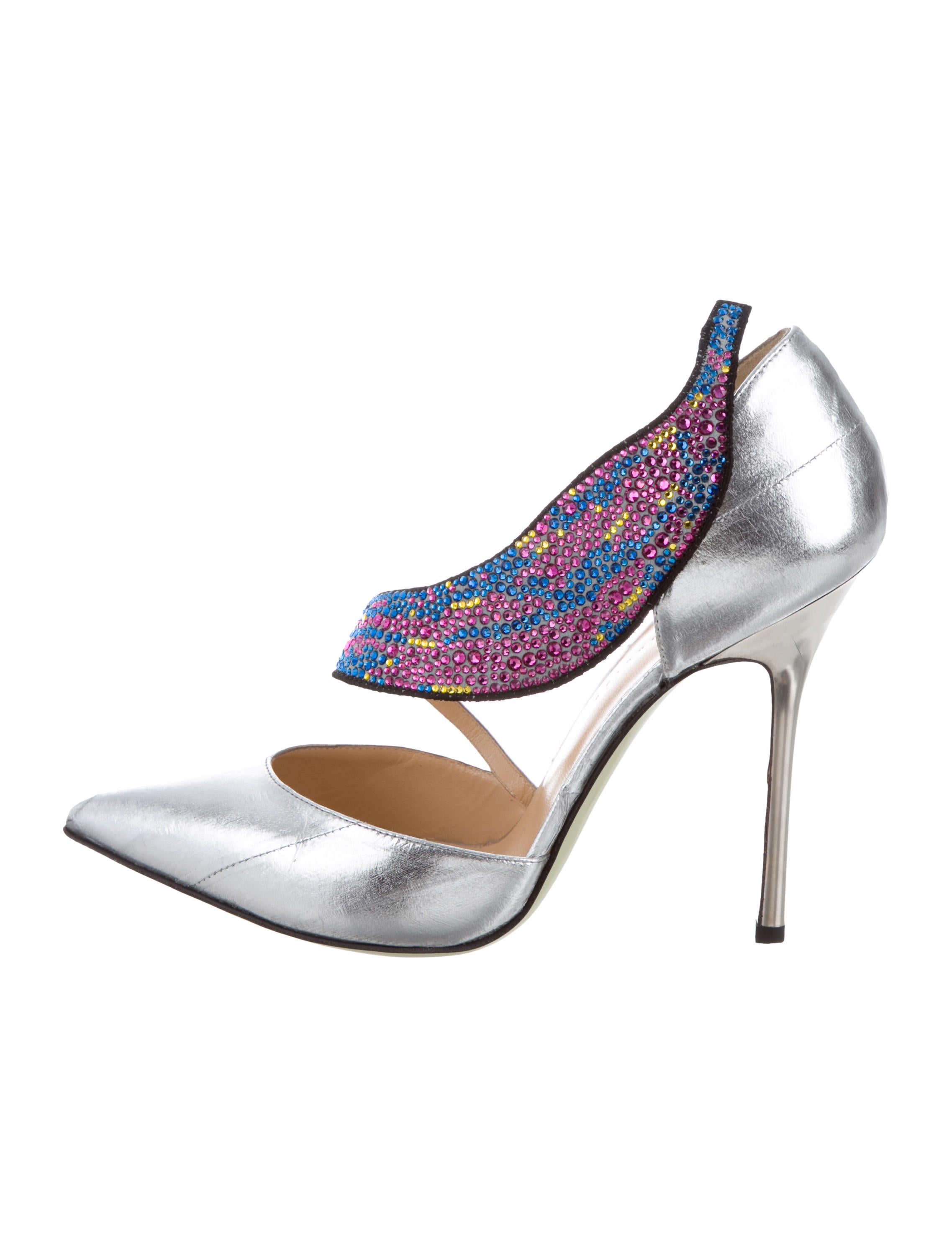 purchase cheap price free shipping for nice Giannico Embellished Pointed-Toe Pumps w/ Tags A5z2SLkV