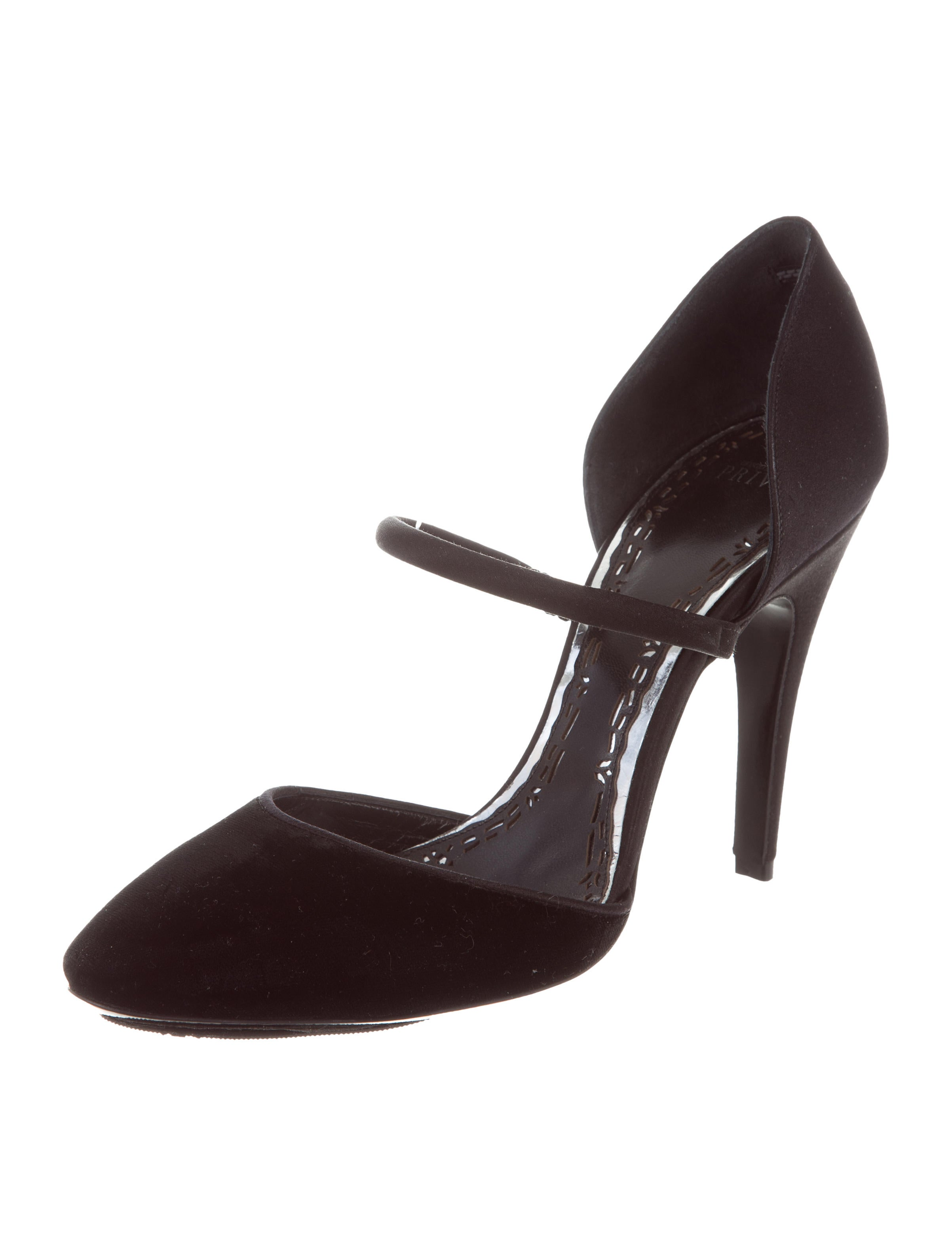 Giorgio Armani Privé Velvet Semi Pointed-Toe Pumps outlet locations for sale YCtvPxzR7