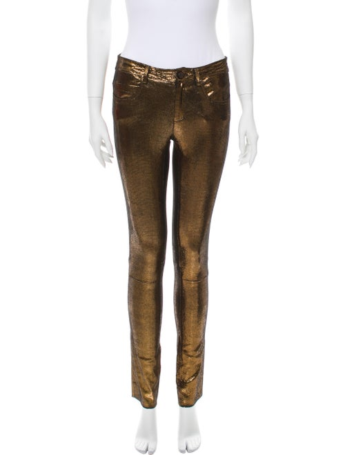Giorgio Brato Animal Print Leather Pants Bronze