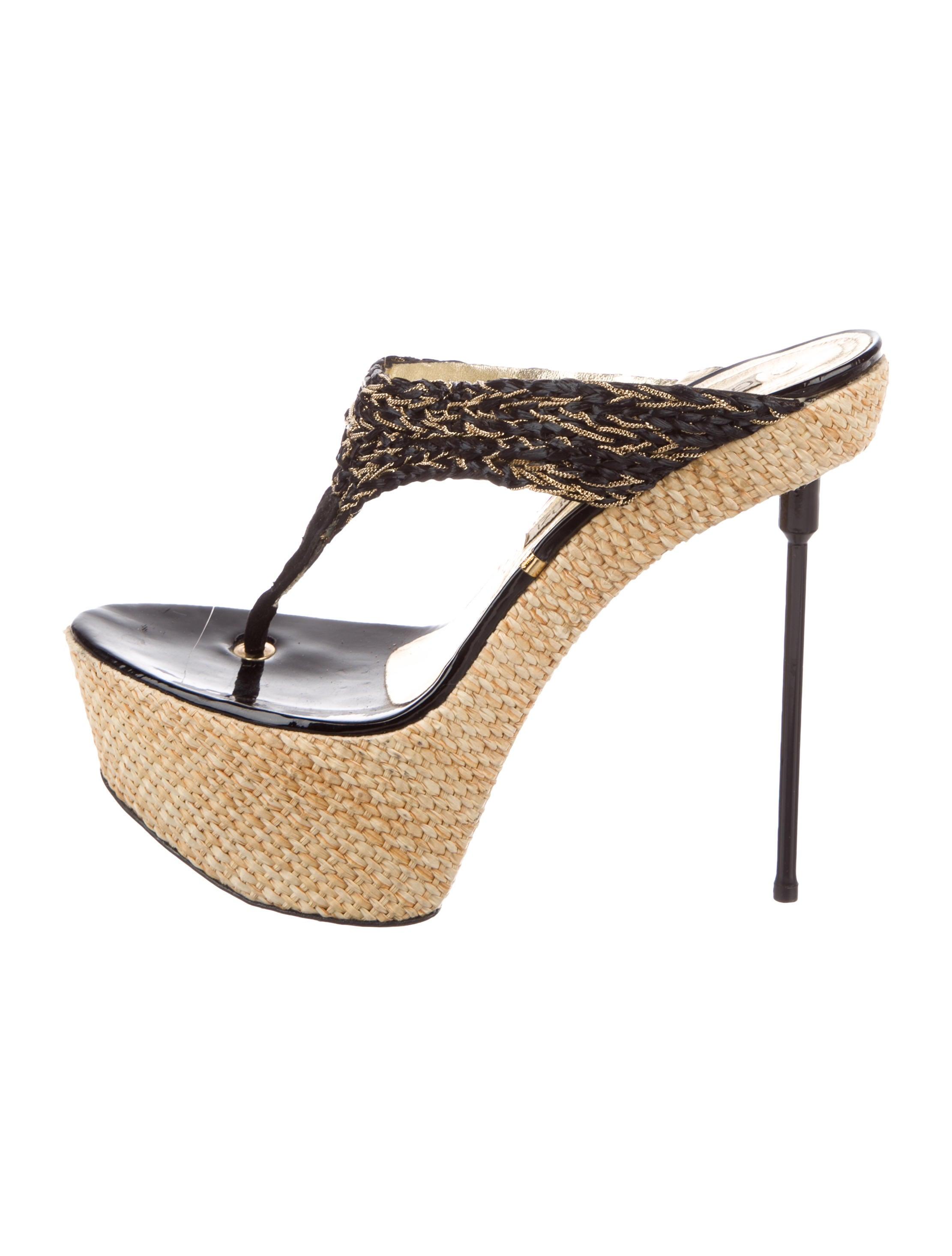 cheap sale discount Gianmarco Lorenzi Platform Thong Sandals sale limited edition Cheapest online sale factory outlet outlet for sale LFam0