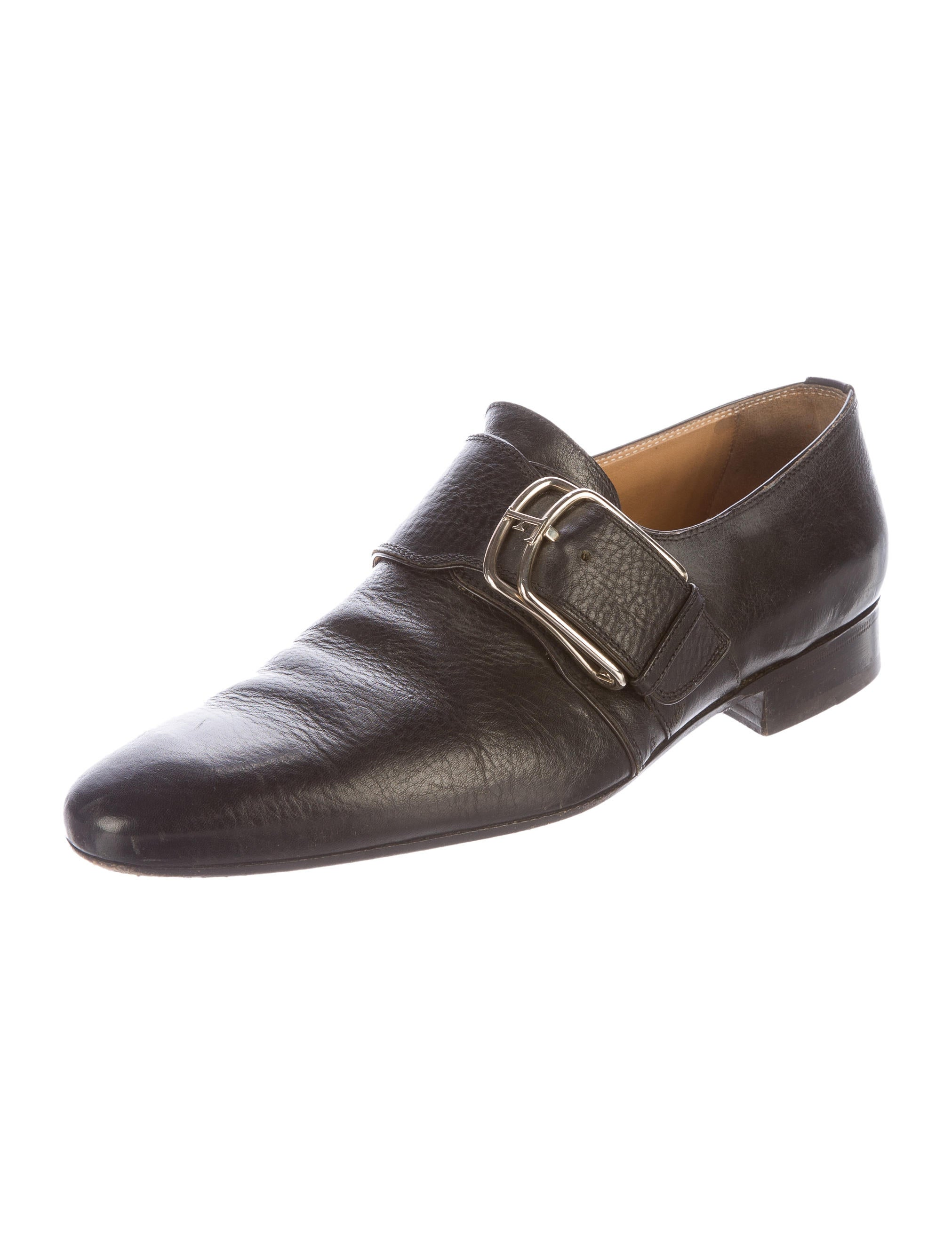 gianfranco ferre leather monk shoes shoes