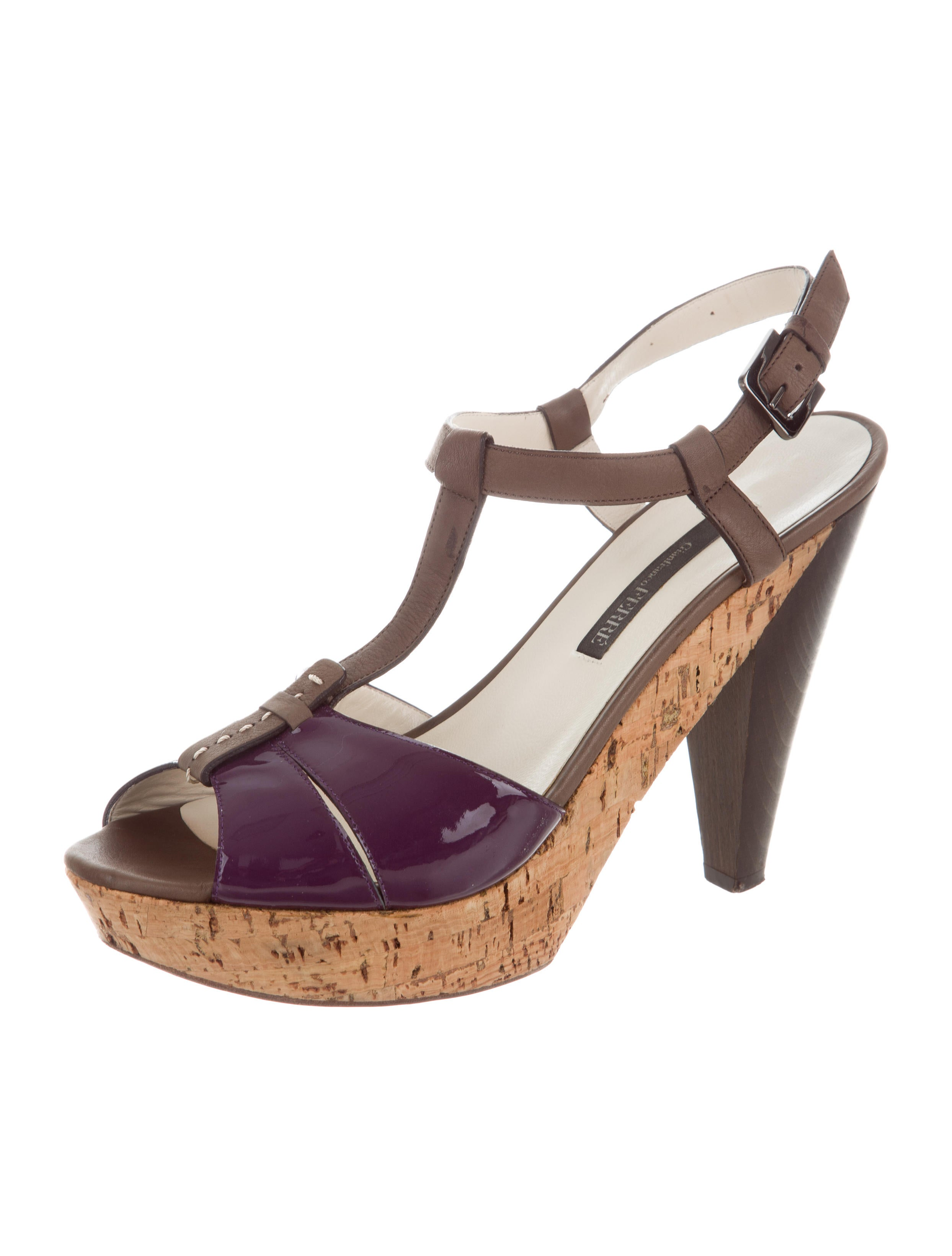 Gianfranco Ferre T-Strap Platform Sandals outlet sale online FxtL7