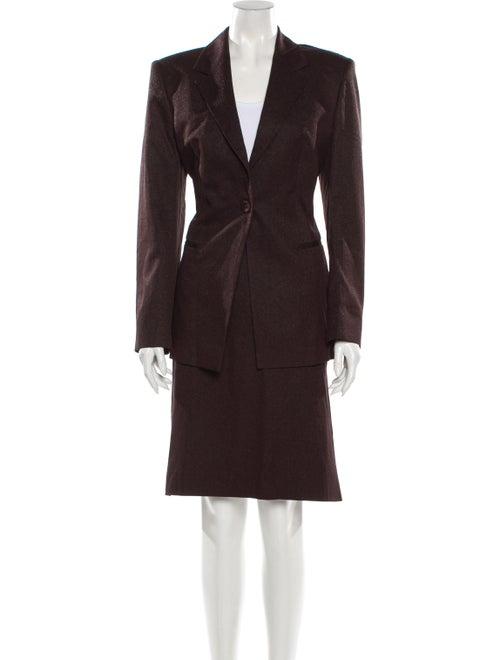 Gianfranco Ferre Skirt Suit Brown