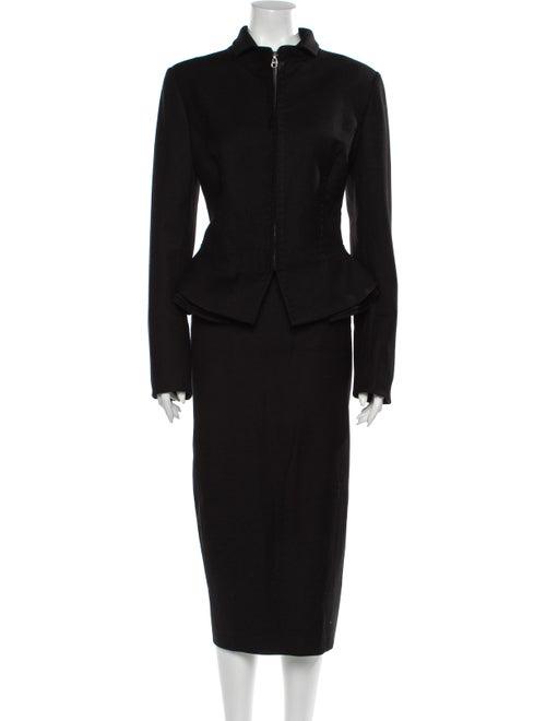 Gianfranco Ferre Wool Skirt Suit Wool