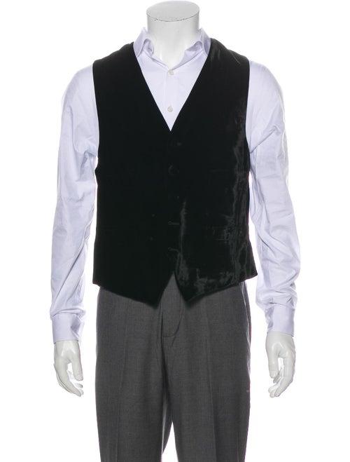 Gianfranco Ferre Velvet Suit Vest Black