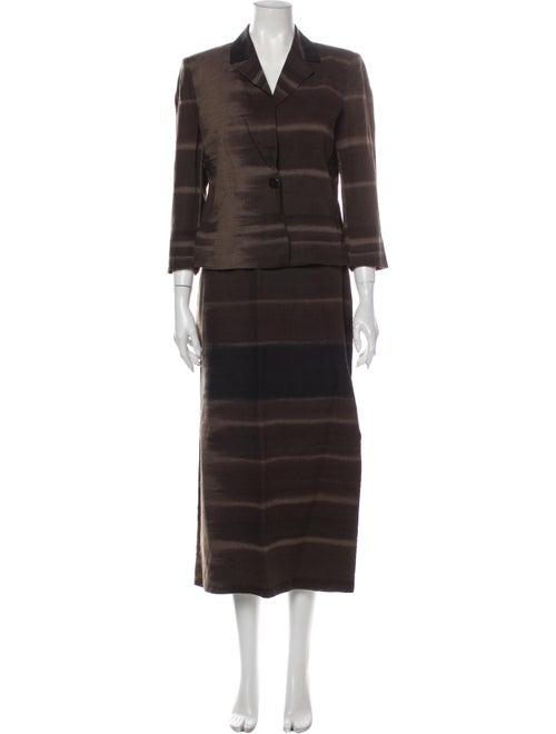 Gianfranco Ferre Striped Skirt Suit