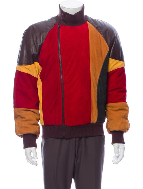 Gianfranco Ferre 1990's Leather Bomber Jacket Brow